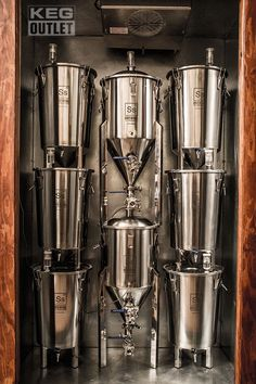 Stainless Steel Bucket Fermenter by SS Brewing Technologies equipment storage Ss Brewtech Stainless Steel Brew Bucket™ Fermenter Home Brewery, Home Brewing Beer, Brewing Supplies, Brewery Design, Beer Fridge, Home Brewing Equipment, Alcohol, Beer Tasting, Tasting Room