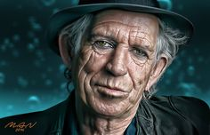 """Keith Richards RES by gmanel. Deviantart """"Rock and roll ain't nothing but jazz with a hard backbeat. Patti Hansen, Ron Woods, Charlie Watts, Quote Life, Keith Richards, Mick Jagger, Book Of Life, Great Pictures, Rock Music"""