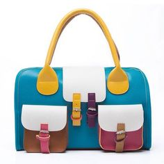 $18.66 Cute Buckle and Color Block Design Women's Tote