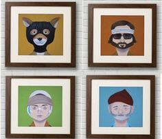 Wes Anderson Prints  I want this!!!