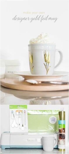 DIY Designer Mug | this cricut explore craft idea is simple and functional…