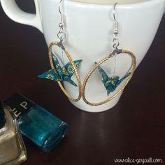 Boucles d'oreilles Origami Adeline Klam, DIY par Alice Gerfault