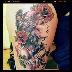Gypsy head tattoo designs often portray the gypsy with a star gazing look upon her face. This look is believed to hold symbolic importance as the gypsy takes a look into the future.