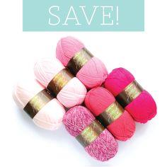 Pink Ombre Bundle. Stylecraft Special DK colour combination