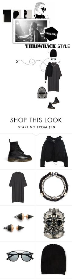 """""""Untitled #423"""" by tamara-40 ❤ liked on Polyvore featuring Dr. Martens, Acne Studios, Monki, Venna, Vita Fede, Alexander McQueen and P.A.R.O.S.H."""
