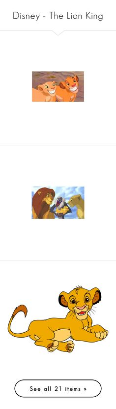 """""""Disney - The Lion King"""" by mary-bee-736 ❤ liked on Polyvore featuring disney, pictures, lion king, the lion king, characters, filler, decor, logos, words and backgrounds"""