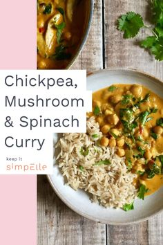 If you're looking for some meal time inspiration, then you have to check out this easy Chickpea, Mushroom & Spinach Curry Recipe by Rebecca of Nourish by Rebecca.Elle: It's been a while since I've shared a recipe on the blog which is perfect for lunch or dinner (here are some slow cooker recipes to get you through autumn though!). And to be honest, it's come at the perfect time – when I've lost all motivation to cook, but still love eating!