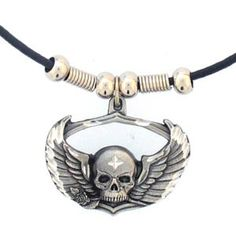 """Checkout our #LicensedGear products FREE SHIPPING + 10% OFF Coupon Code """"Official"""" Earth Spirit Necklace - Skull & Wings - Officially licensed Siskiyou Originals product    Biker - Price: $17.00. Buy now at https://officiallylicensedgear.com/earth-spirit-necklace-skull-wings-pt19s"""
