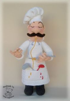 Amigurumi chef.