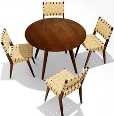 Jens Risom Table and Chairs