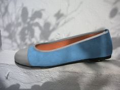 Maitane ballerina shoe in sky blue by by Maria by MariaRivassi, $214.00