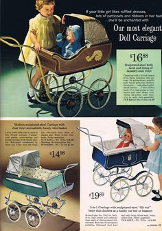 Sears Wish Book, 1964 - baby doll strollers