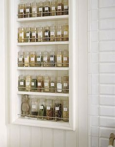 like this spice rack-- nice and neat with the matching jars