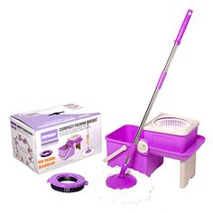 Stainless Steel Deluxe Rolling Spin Mop Mopnado Scrub