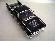 1959 Cadillac Coupe De Ville-Jack Daniels gráficos 1:24 em Metal Fundido Sedan Preto