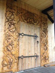 Viking Long house door. Norway Epcot Center - a photo on Flickriver | Architecture \u0026 Elements | Pinterest | Epcot center House doors \u2026 & Very intricate doorway! Viking Long house door. Norway Epcot Center ...