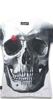 Liquorbrand Skull T-Shirt in White