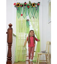 I have seen something similar to this done in another little girls room and would love to recreates something like it for Annika