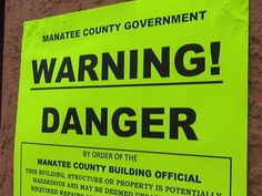 Thanks to ABC Action News for continuing coverage on problems at in - condo complex warning sign