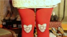 So cute! ♥ Wear your heart on your knees, video tutorial by Modcloth.