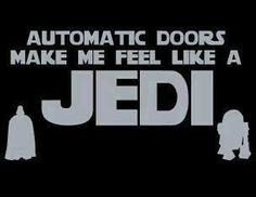 move your  hand to open automatic doors jedi star wars funny humor