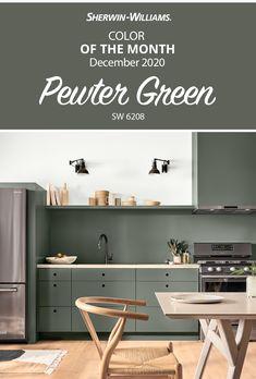 Green Kitchen, Kitchen Redo, New Kitchen, Kitchen Remodel, Kitchen Design, Interior Paint Colors, Paint Colors For Home, Paint Decor, House Colors