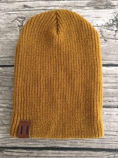 Beau Hudson Knit Beanie in Mustard #romanandleo