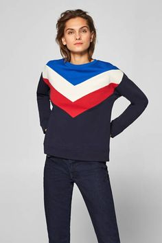 Sweatshirt im Color-Block-Style, 100% Baumwolle Zip Hoodie, Sweat Hoodie, Neue Trends, Sweatshirts, Sweaters, Style, Fashion, Templates, Casual