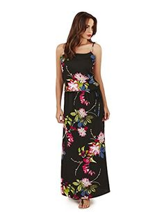Pistachio, Ladies Evening Summer Holiday Maxi Dress, Black Flower, X-Large (UK 20-22) Pistachio http://smile.amazon.com/dp/B01BKSIBKQ/ref=cm_sw_r_pi_dp_ZU.dxb0HXN1NJ
