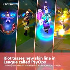 Riot teases new skin line in League called PsyOps #PsyOps #RiotGames #LeagueOfLegends #Pinoygamer