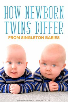 Wondering how to manage dealing with newborn twins? Caring for twins is different from caring for singletons. Here are the differences between newborn twins and newborn singletons. Get the tips and advice you need for surviving twin babies! Newborn Twins, Newborn Care, Triplets, Twin Mom, Twin Babies, Second Baby, First Baby, Kids Sleep, Baby Sleep