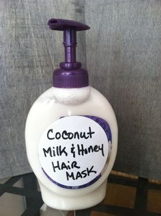 Coconut Milk & Honey Hair Mask for Hair Growth & Hair Loss Prevention