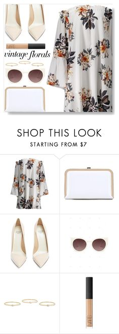 """""""Vintage Florals"""" by simona-altobelli ❤ liked on Polyvore featuring Francesco Russo, Jennifer Meyer Jewelry, NARS Cosmetics and vintage"""