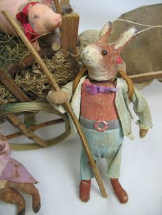 Spun Cotton Ornament Co.: German Style Spun Cotton Rabbit