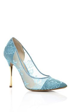 Blue lace heels - Shoes and beauty