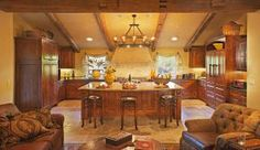 Tuscan gourmet kitchen designed and built Austin Texas