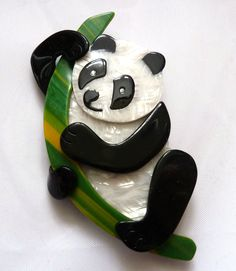 The Lea Stein Panda Brooch.  Photographed by Gillian Horsup.