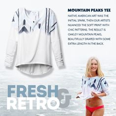 Oakley Mountain Peaks Tee:  Check out our newest arrival featuring on-trend Aztec print.