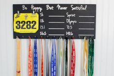 Carved Race and Triathlon Medal Display by five1fivesigns on Etsy