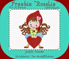 The Needle Whisperer – rosalie – freebie - embroidery Embroidery On Clothes, Embroidered Clothes, Embroidery Files, Machine Embroidery Designs, Embroidery Patterns, Hand Embroidery, Freebies, Modern Christmas, Embroidery Techniques