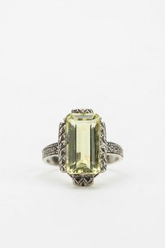 Authentic vintage ring from the 1950s. Sterling silver with yellow-green citrine -- we only have one in stock! #urbanoutfitters
