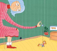 Meine Oma ist die Größte | Franziska Höllbacher | Bilderbuch #childrensbooksart #childrensbooks #artist Illustration, Kids Rugs, Home Decor, Pictures, Decoration Home, Kid Friendly Rugs, Room Decor, Illustrations, Home Interior Design