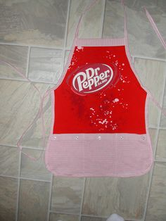 Kid sized Dr Pepper Apron by funfoodsaprons on Etsy