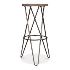 Cult Living Crossed Leg Raw Finish 75cm Hairpin Stool | Cult UK