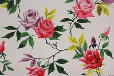Hey, I found this really awesome Etsy listing at https://www.etsy.com/ca/listing/179433120/1940s-vintage-wallpaper-pink-purple-and