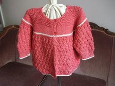 Hand Knit Baby Matinee Coat Sweater