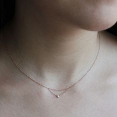 Chained to My Heart Necklace, Rose Gold - Catbird Classics - Catbird