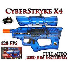 Airsoft Cyber Stryke Electric Blue Toy Pellet Gun