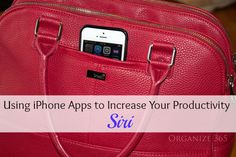 Professional Organizer, Lisa Woodruff, shows you how to use productivity apps for iPhone. This week's focus is Siri.