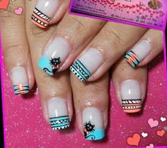 Chismositos Cat Nail Art, Cat Nails, Hello Nails, Indian Nails, Easter Nails, Funky Nails, Toe Nail Designs, Nail Polish Colors, Nail Tips